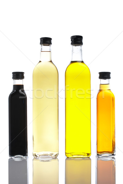 Bottles of olive oil and vinegar Stock photo © broker