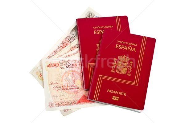 2 スペイン お金 孤立した 白 ストックフォト © broker