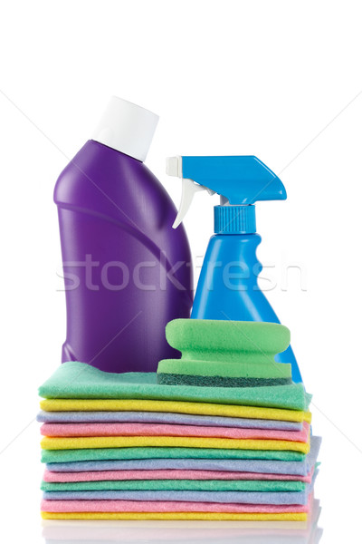 Two detergent bottles and sponges Stock photo © broker