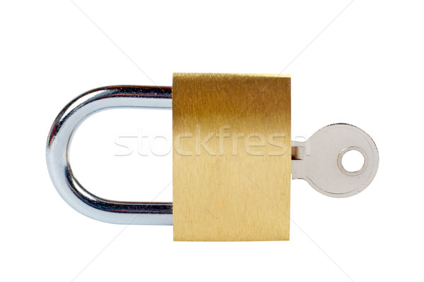 Cadenas macro clé lock acier Photo stock © broker