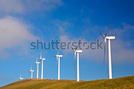 Wind turbines farm Stock photo © broker