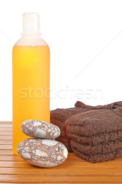 Sabun şişe banyo ürünleri Stok fotoğraf © broker