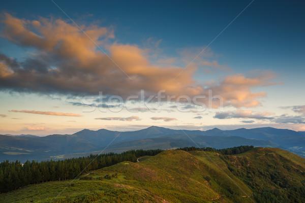 Sunset landscape Stock photo © broker