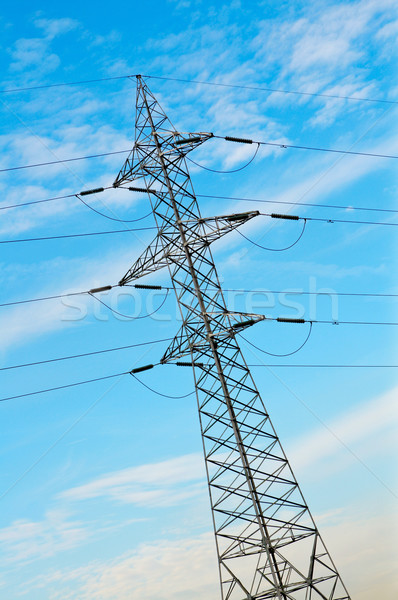 Power pole and cables Stock photo © broker