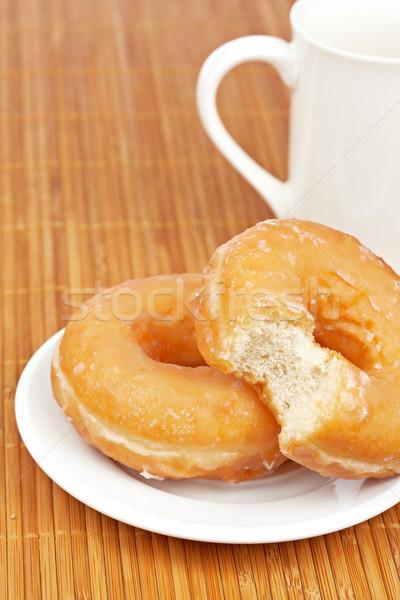 Lezzetli kahve sığ gıda içmek Stok fotoğraf © broker