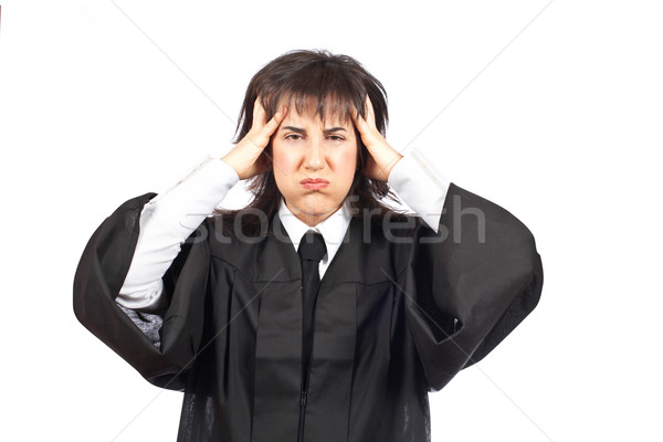 女性 裁判官 肖像 白 法 ストレス ストックフォト © broker