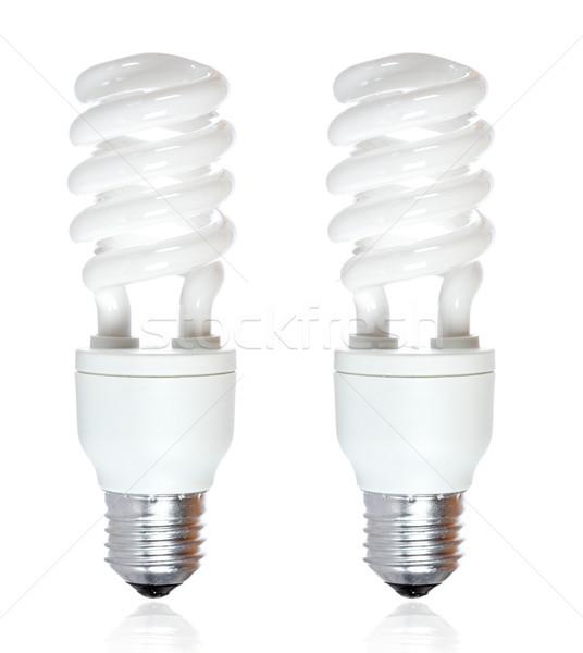 Two energy saving bulb Stock photo © broker