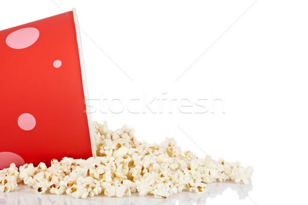 Popcorn secchio dettaglio bianco film divertimento Foto d'archivio © broker
