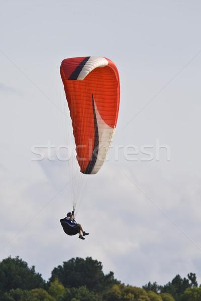 Férfi színes repülés égbolt természet jókedv Stock fotó © broker
