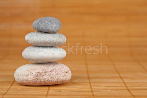 Stock photo: Balanced stones
