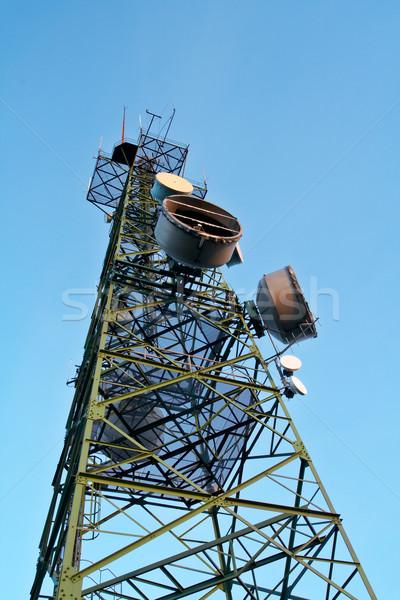 Telecommunications antennas Stock photo © broker