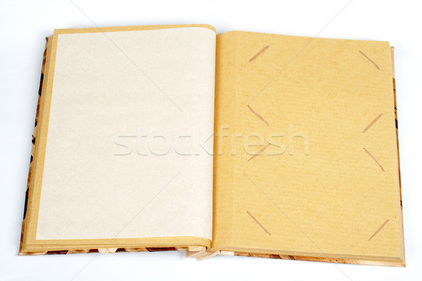 Antique scrapbook for two images per page Stock photo © broker