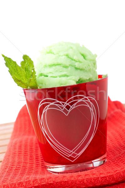 Delicious mint ice cream Stock photo © broker