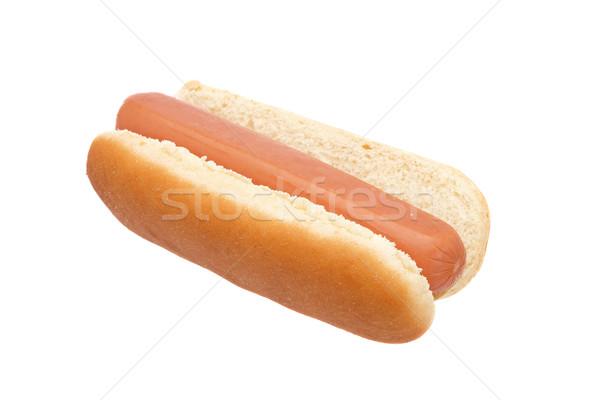 Сток-фото: Hot · Dog · изолированный · белый · мелкий · хлеб · обеда