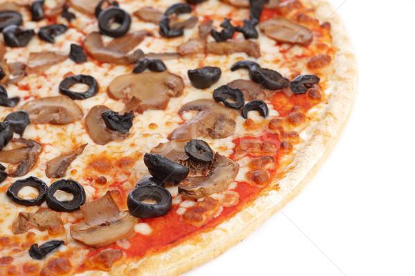 пиццы вкусный итальянский белый мелкий обеда Сток-фото © broker