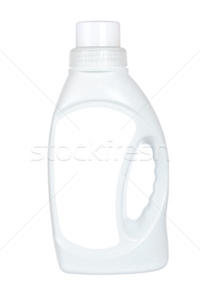 прачечной моющее средство ткань бутылку изолированный белый Сток-фото © broker