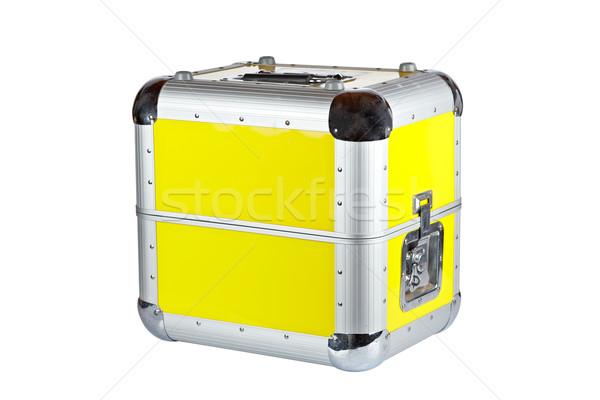 Dídzsé bőrönd doboz izolált fehér sekély Stock fotó © broker