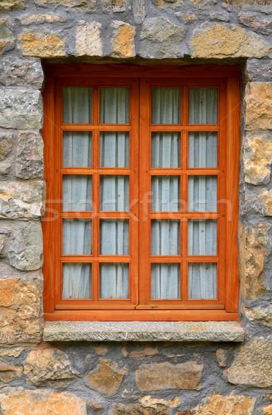 Wooden rustic vertical window Stock photo © broker