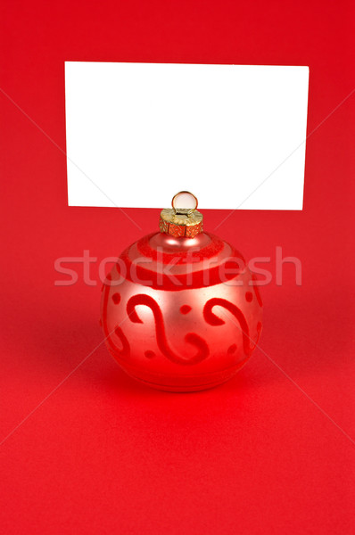 Christmas piłka notatka czerwony rodziny strony Zdjęcia stock © broker