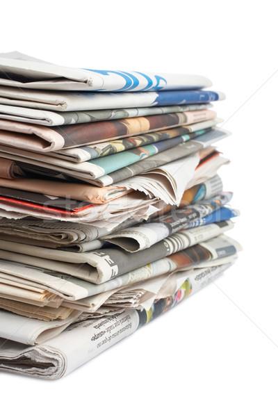 Stack of newspapers Stock photo © broker