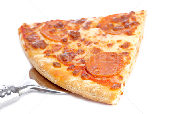Slice of tasty Italian pizza Stock photo © broker