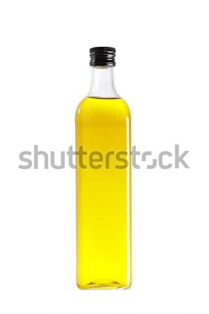 Olívaolaj üveg izolált fehér egészség ital Stock fotó © broker