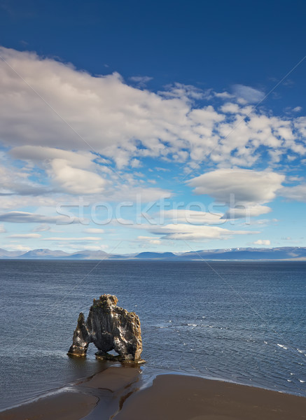 Hvitserkur, rock formation in Hunafjordur, Iceland Stock photo © broker