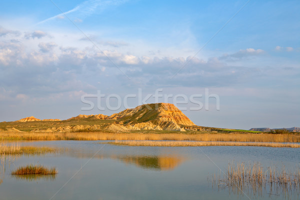 Hill over the blue sky and the lake Stock photo © broker