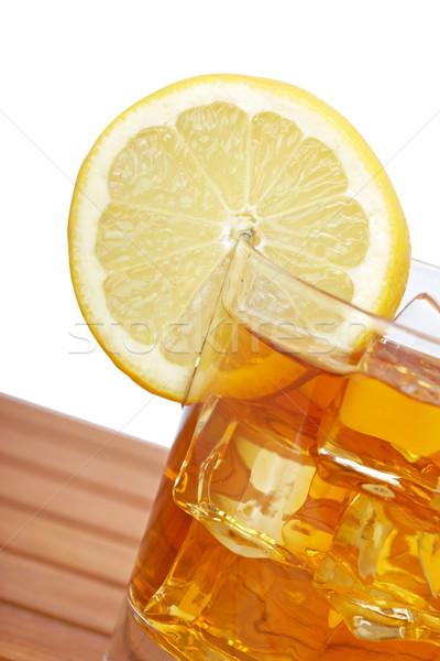 Glass of ice tea with lemon Stock photo © broker