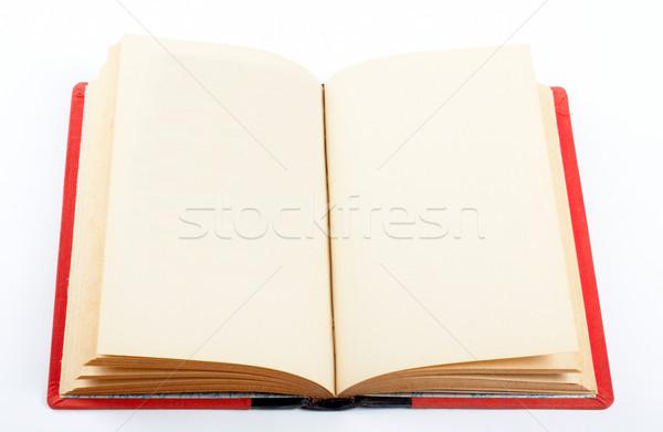Vieux livre ouvrir tous les deux vide blanche Photo stock © broker