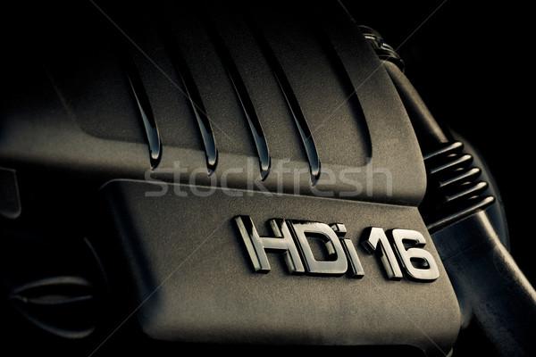 Stock photo: Car engine