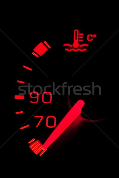 Autó neon műszerfal megvilágított fekete sekély Stock fotó © broker