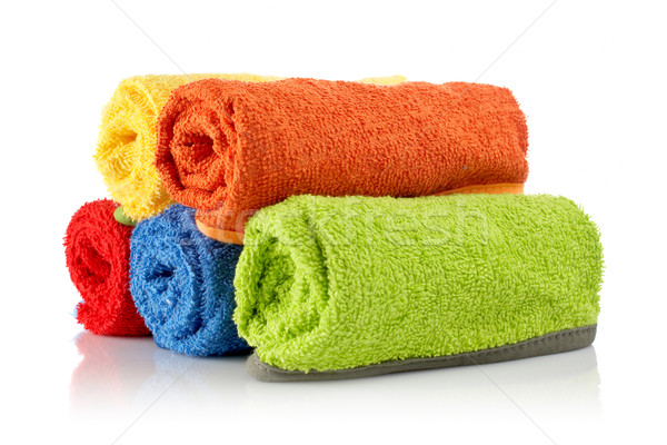 Multicolour towels rolls Stock photo © broker
