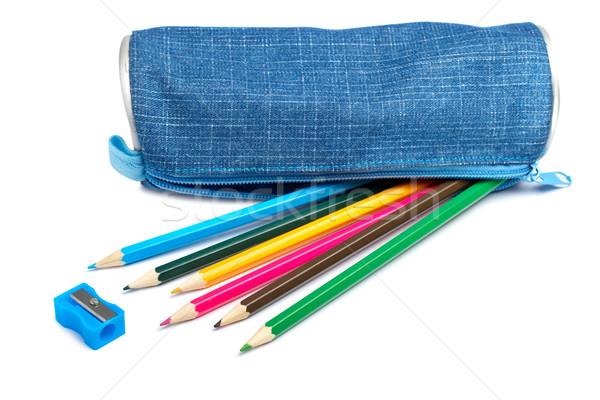 Blue pencil case Stock photo © broker