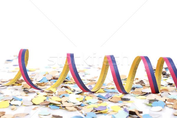 Confetti witte ondiep gelukkig lint Stockfoto © broker