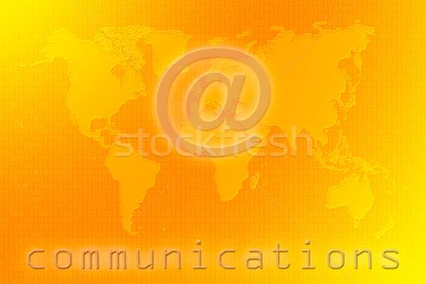 Communications world map Stock photo © broker
