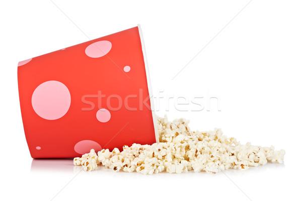 Bucket of popcorn Stock photo © broker