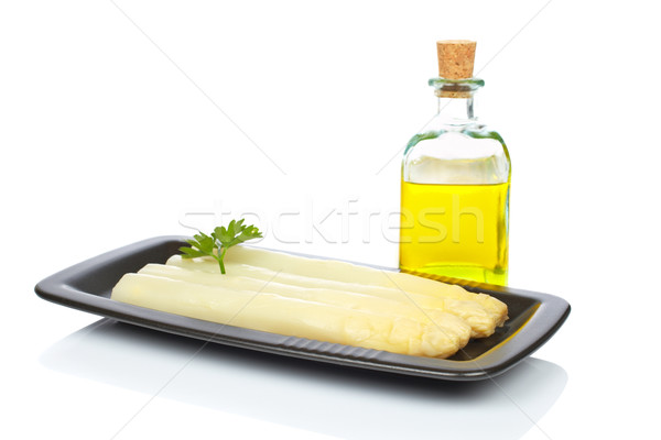 Asparagus with parsley Stock photo © broker