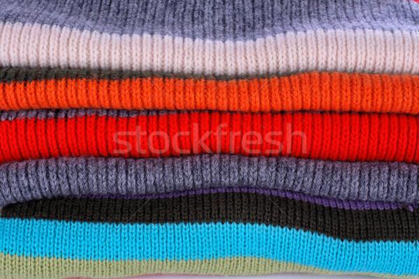 ストックフォト: いくつかの · 色 · スタック · テクスチャ · 髪 · 冬
