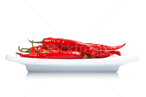 Red peppers in the dish Stock photo © broker