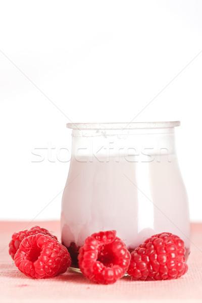Raspberries yogurt Stock photo © broker