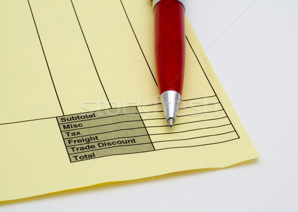 Blank invoice with pen Stock photo © broker