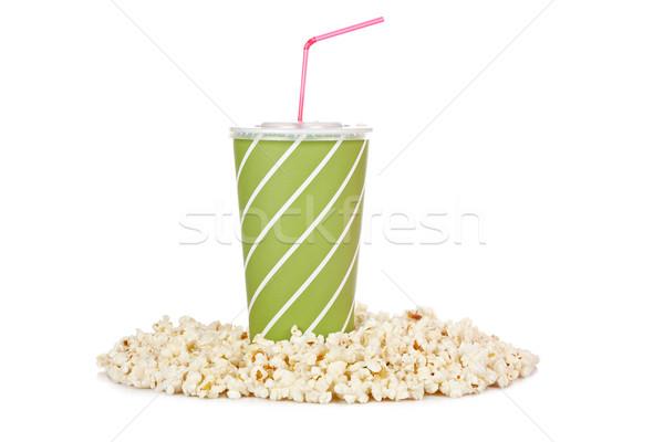 Popcorns and soda Stock photo © broker