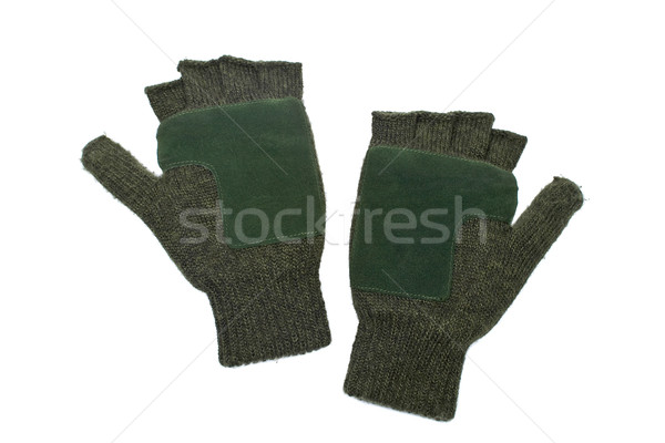 Woolen fingerless gloves Stock photo © broker