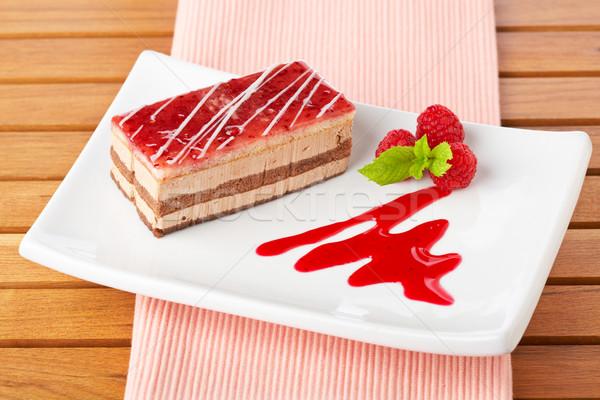 Delicious strawberry cake Stock photo © broker