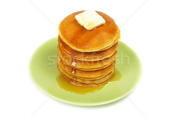 Pancakes with syrup and butter Stock photo © broker