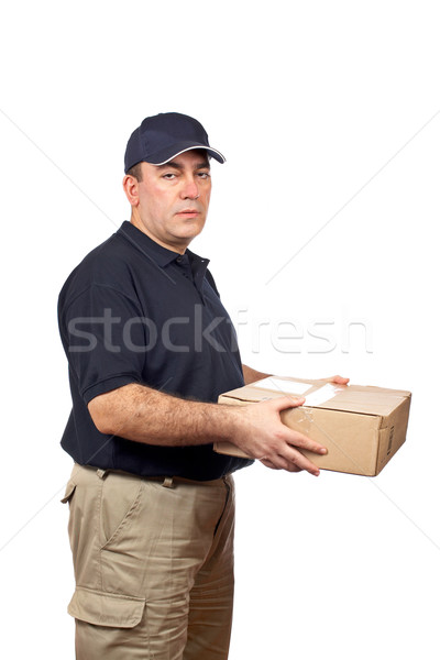 Courier delivering a package Stock photo © broker
