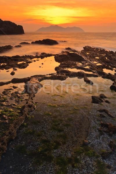 Seascape sunset Stock photo © broker