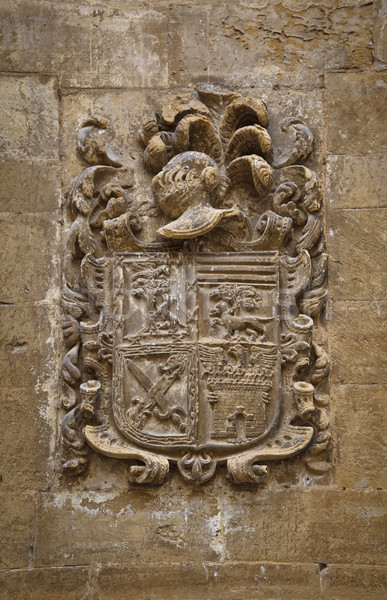 Carved stone coat of arms Stock photo © broker