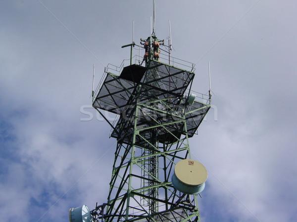 башни связи небе технологий телефон сеть Сток-фото © broker